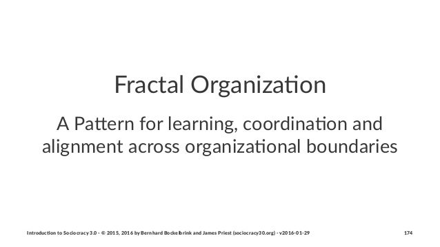 """Fractal'Organiza-on A""""Pa%ern""""for""""learning,""""coordina1on""""and"""" alignment""""across""""organiza1onal""""boundaries Introduc)on*to*Socio..."""