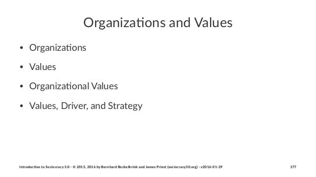 Organiza(ons+and+Values • Organiza)ons • Values • Organiza)onal0Values0 • Values,0Driver,0and0Strategy Introduc)on*to*Soci...