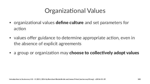 Organiza(onal+Values • organiza)onal+values+define%culture+and+set+parameters+for+ ac)on • values+offer+guidance+to+determin...