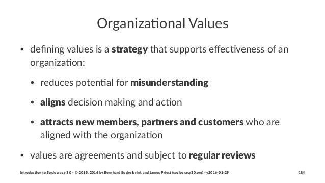 Organiza(onal+Values • defining(values(is(a(strategy(that(supports(effec5veness(of(an( organiza5on: • reduces(poten5al(for(m...