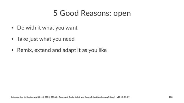 """5""""Good""""Reasons:""""open • Do$with$it$what$you$want • Take$just$what$you$need • Remix,$extend$and$adapt$it$as$you$like Introdu..."""