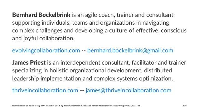 Bernhard(Bockelbrink!is!an!agile!coach,!trainer!and!consultant! suppor2ng!individuals,!teams!and!organiza2ons!in!naviga2ng...