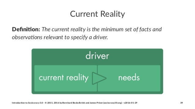 Current'Reality Defini&on:!The$current$reality$is$the$minimum$set$of$facts$and$ observa5ons$relevant$to$specify$a$driver. I...