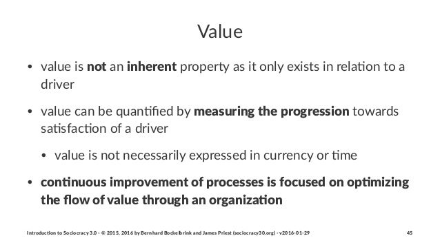 Value • value'is'not'an'inherent'property'as'it'only'exists'in'rela1on'to'a' driver • value'can'be'quan1fied'by'measuring-t...