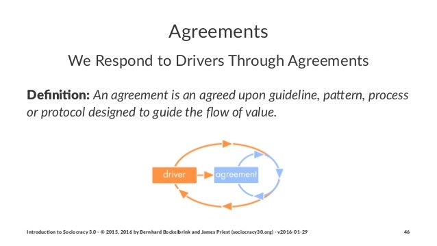 Agreements We#Respond#to#Drivers#Through#Agreements Defini&on:!An#agreement#is#an#agreed#upon#guideline,#pa2ern,#process# o...