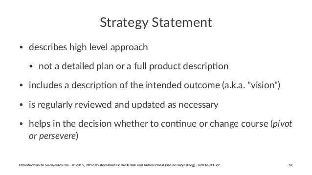 Strategy(Statement • describes)high)level)approach) • not)a)detailed)plan)or)a)full)product)descrip5on • includes)a)descri...