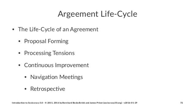 Argeement(Life,Cycle • The%Life)Cycle%of%an%Agreement • Proposal%Forming • Processing%Tensions • Con:nuous%Improvement • N...