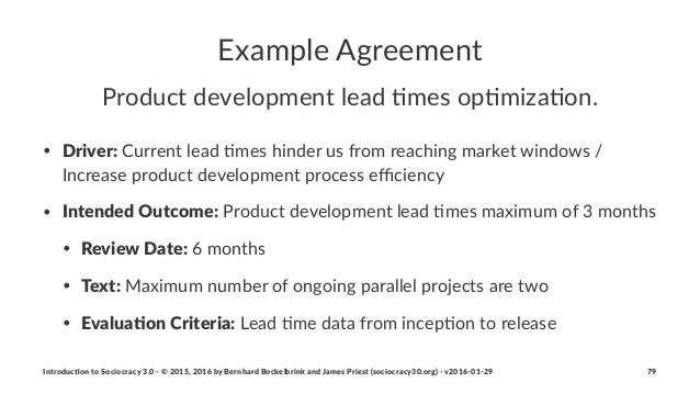 """Example(Agreement Product(development(lead(0mes(op0miza0on. • Driver:""""Current""""lead"""",mes""""hinder""""us""""from""""reaching""""market""""win..."""
