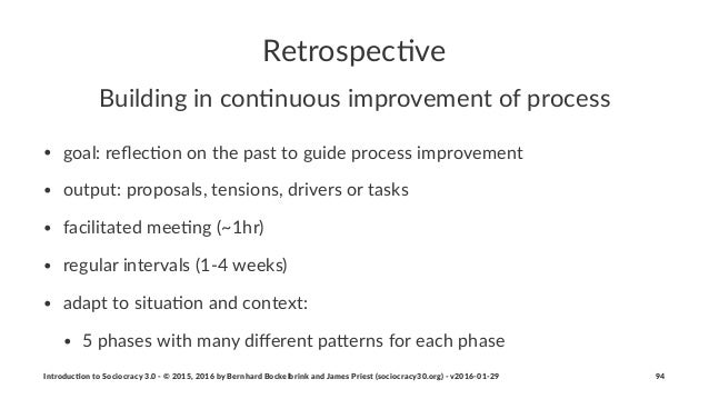 Retrospec)ve Building(in(con+nuous(improvement(of(process • goal:'reflec,on'on'the'past'to'guide'process'improvement • outp...