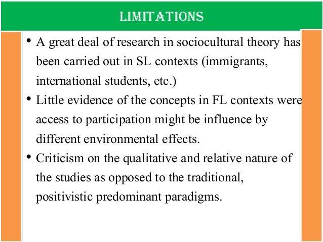 limitations of sociocultural theory