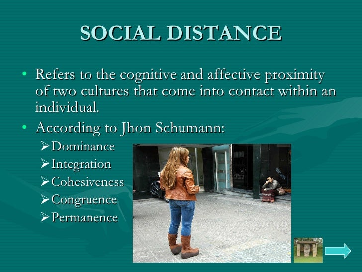 social distance Econometrica, vol 65, no 5 (september, 1997), 1005-1027 social distance and social decisions by george a akerlof1 a model of social distance is presented that is useful for understanding social.
