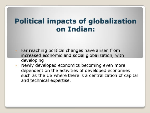 political consequences of globalization