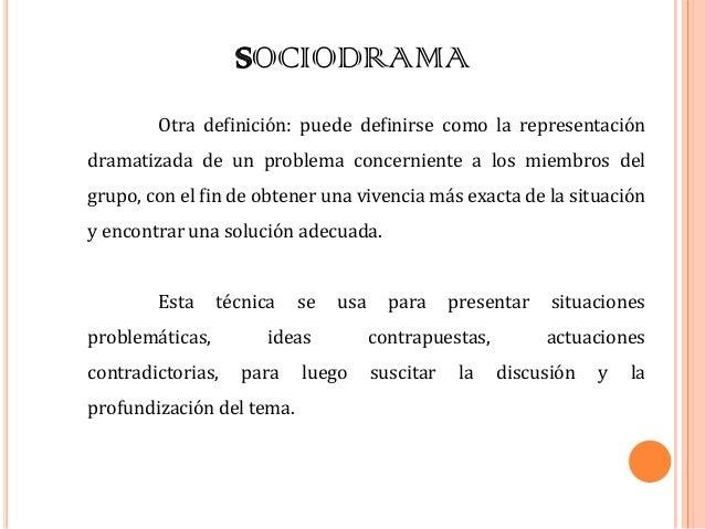 SOCIODRAMA DEFINICION EPUB