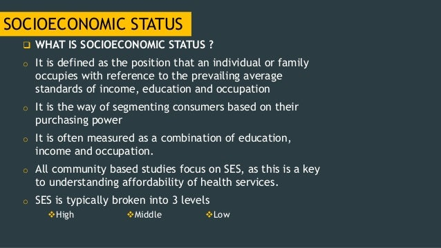 an introduction to the importance of socioeconomic status You have free access to this content evaluating the evidence base: policies and interventions to address socioeconomic status gradients in health a.