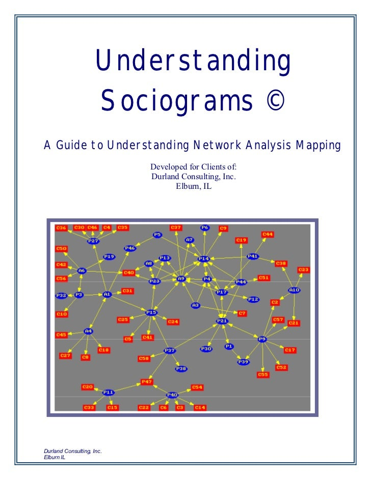 Understanding                     Sociograms ©A Guide to Understanding Network Analysis Mapping                           ...
