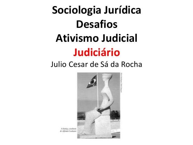 Sociologia Jurídica Desafios Ativismo Judicial Judiciário  Julio Cesar de Sá da Rocha