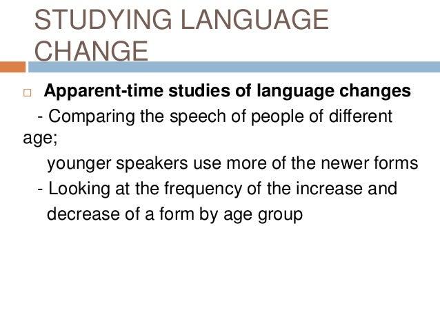 sociolinguistics language change