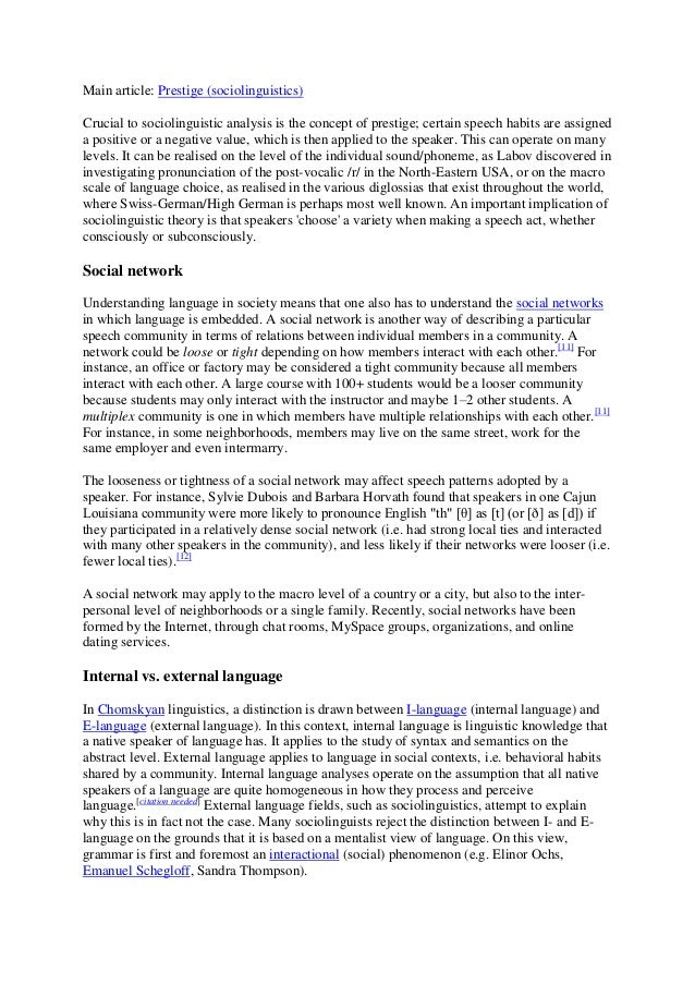 sociolinguistics essay questions Postgraduate course: sociolinguistic research design (lasc11152) theoretical questions ask why the answers to these questions look the way that they do, attempting to explore why the same sociolinguistic patterns can be seen across different additional information (assessment), 1000 word essay (30%.