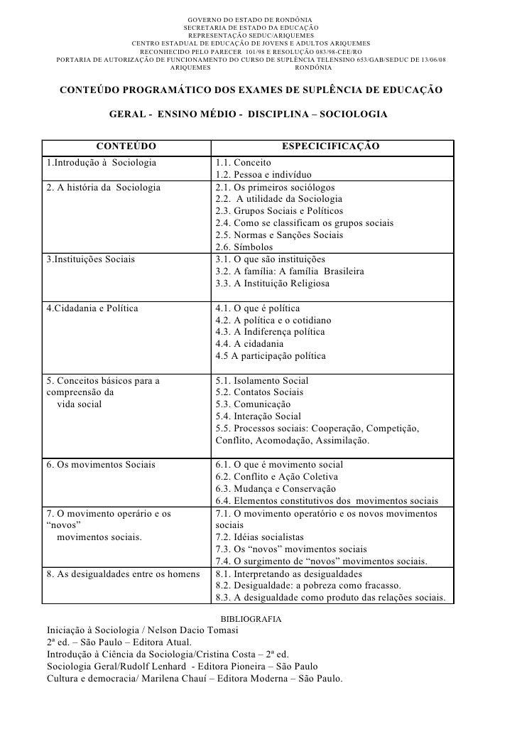 GOVERNO DO ESTADO DE RONDÔNIA                                  SECRETARIA DE ESTADO DA EDUCAÇÃO                           ...