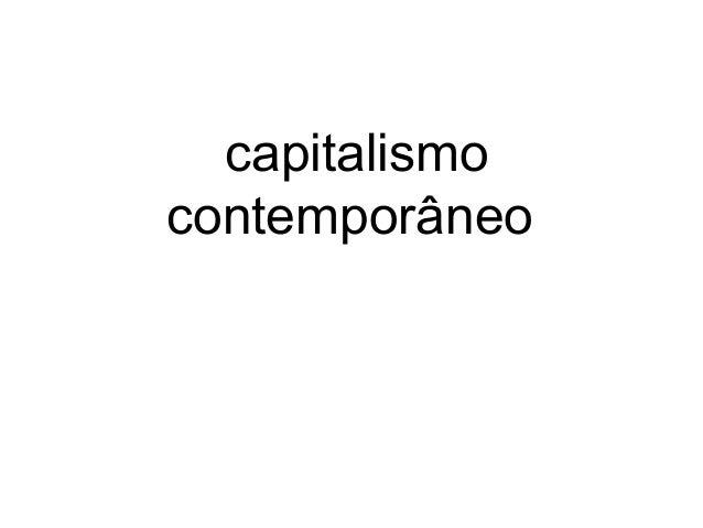 capitalismo contemporâneo