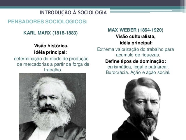 a comparison of karl marx and max weber in sociology Karl marx and max weber's contributions print central issues in sociology, london: sage weber, m (1978) max weber selections in translation, w g runciman.