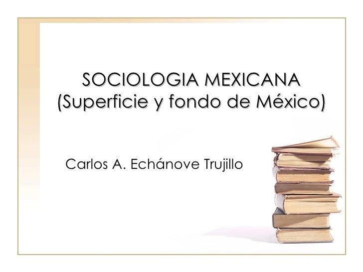 SOCIOLOGIA MEXICANA (Superficie y fondo de México) Carlos A. Echánove Trujillo