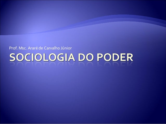 Prof. Msc. Araré de Carvalho Júnior
