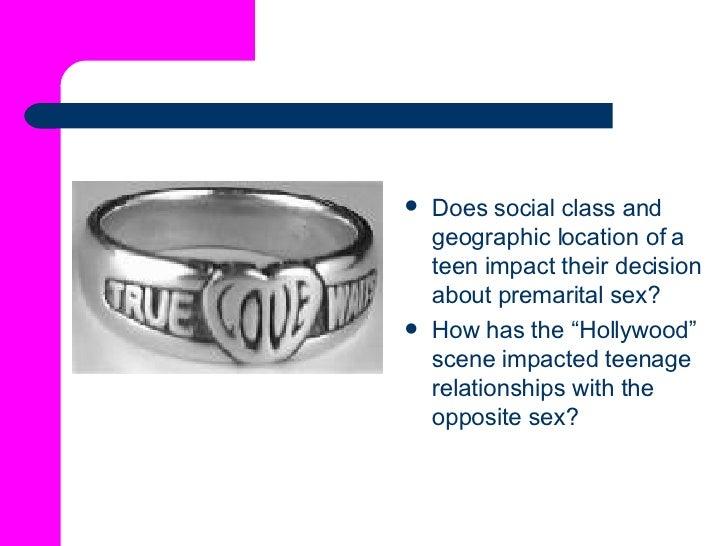 <ul><li>Does social class and geographic location of a teen impact their decision about premarital sex? </li></ul><ul><li>...