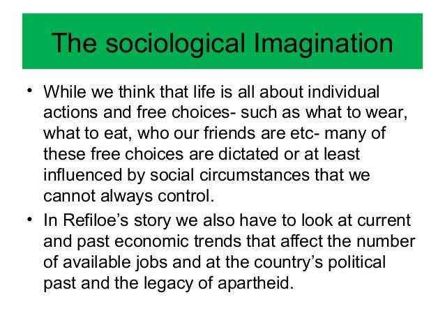sociological imagination on alcoholism and the effects on society Answer to according to sociologist, c wright mills, people often impact of alcoholism in society use your sociological imagination to.