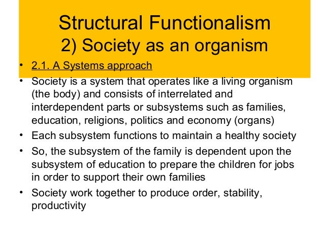 an analysis of the monolithic perspective towards the family in society Critiques of functionalism and functionalist perspectives on the family for the purpose the family is what holds society together and.