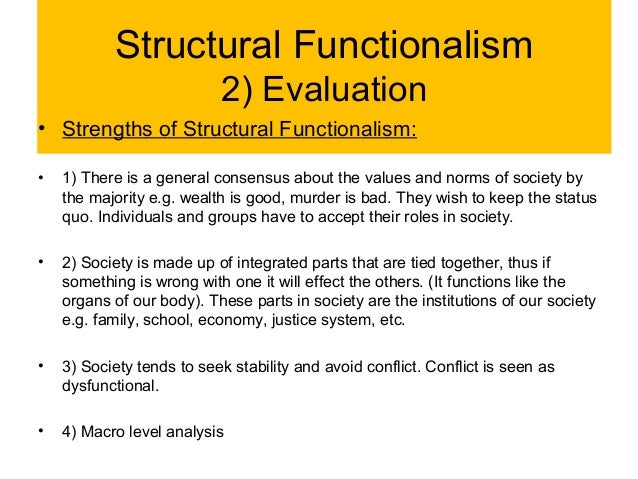 an analysis of functionalism and conflict theory