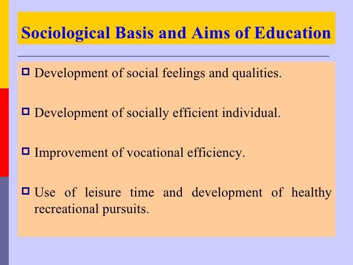 Sociology and recreational facilities