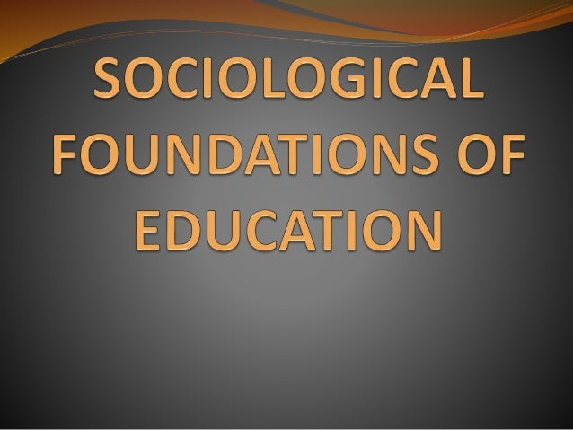 Reaction Paper #3 - Foundations of Education
