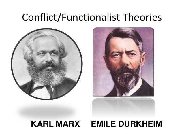 Conflict/Functionalist Theories KARL MARX EMILE DURKHEIM
