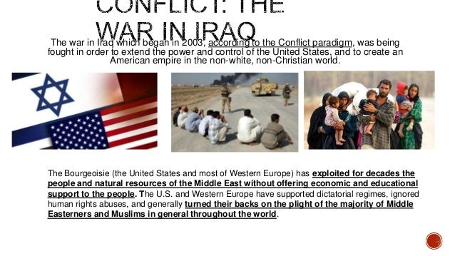 sociological perspectives on war Conflict, war, and terrorism chapter sociological theories of war - symbolic interactionist perspective: slide: 9 of 18 conflict, war, and terrorism sociology.