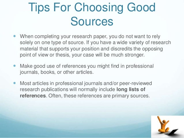 what are good sources for a research paper