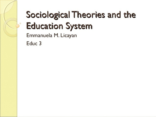 sociological perspective on education essay