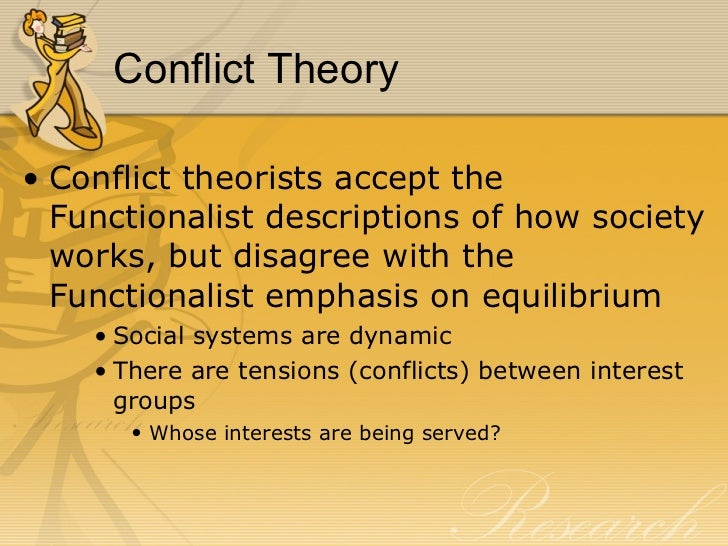 conflict theory in education Define manifest and latent functions of education explain and discuss how  functionalism, conflict theory, feminism, and interactionism view issues of  education.