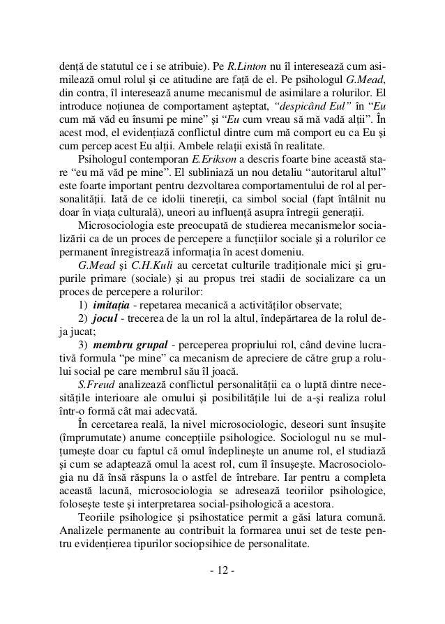 Statutul si rolul elemente fundamentale ale structurii sociale