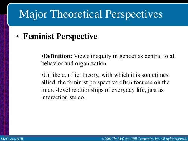 similarities between conflict theory and feminist perspective Compare and contrast feminist theory and conflict feminist theory focuses on trying to understand female offending from the feminist perspective.