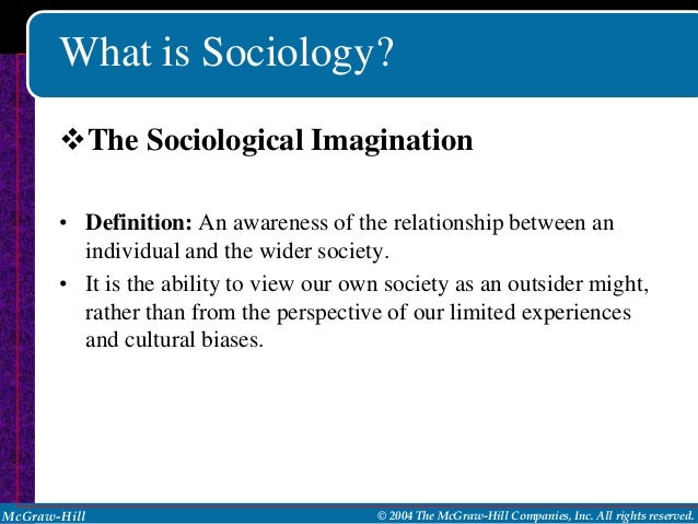 Sociology imagining the social