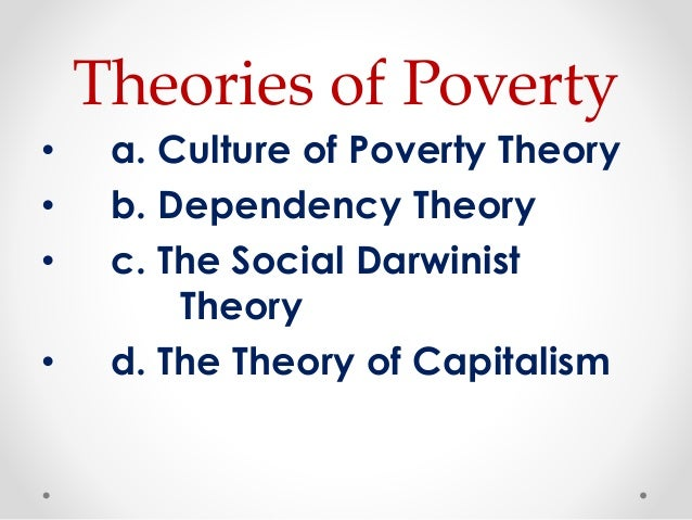 social problems poverty • existence