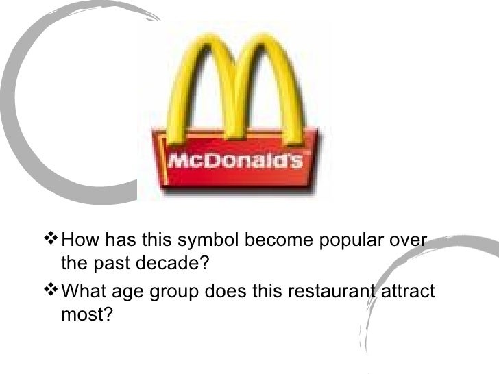 <ul><li>How has this symbol become popular over the past decade? </li></ul><ul><li>What age group does this restaurant att...