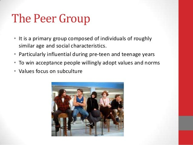 peer group in agent of socialization Social support network one of the primary advantages to having a peer group at any age is the support that can be obtained from a social network.
