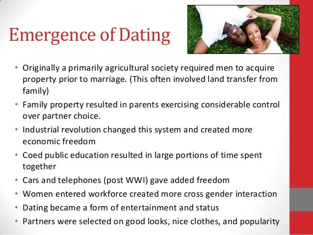 Emergence of dating sociology