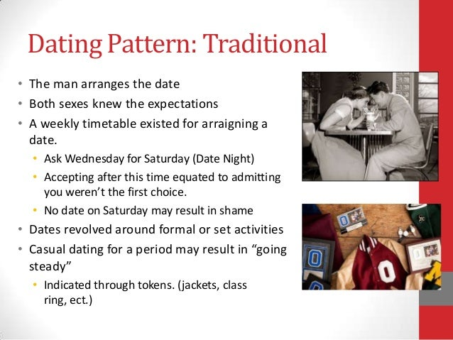 Traditional dating patterns sociology