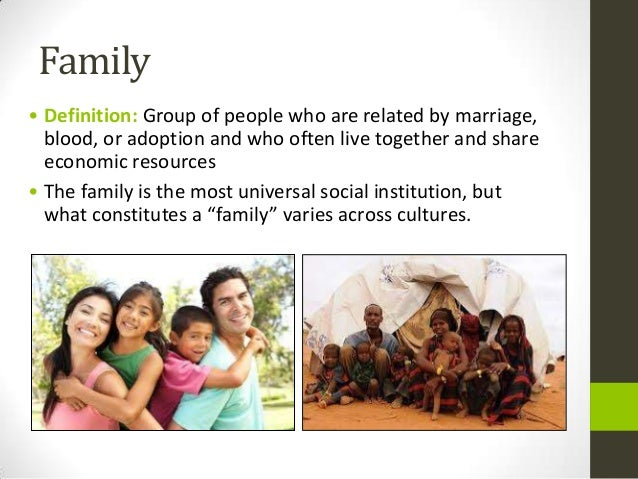 family in sociology Changing family patterns (family diversity) what this is about 50 years ago the 'normal' family was the 'nuclear' family – a married couple with children.