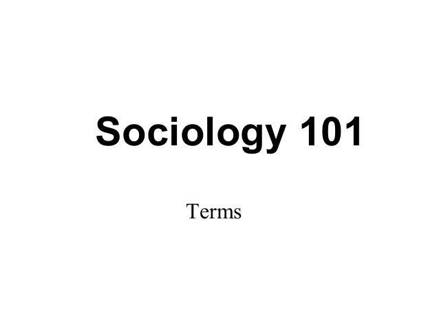 sociology 101 notes