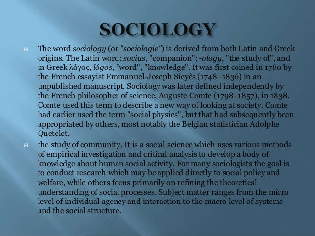 relationship of sociology to economics Economic sociology is particularly attentive to the relationships between economic activity, the rest of society, .