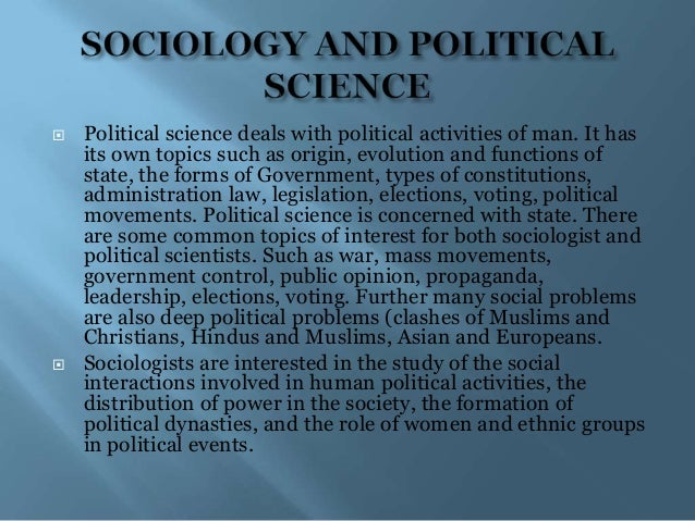 nature scope and relationship of sociology with other social sciences